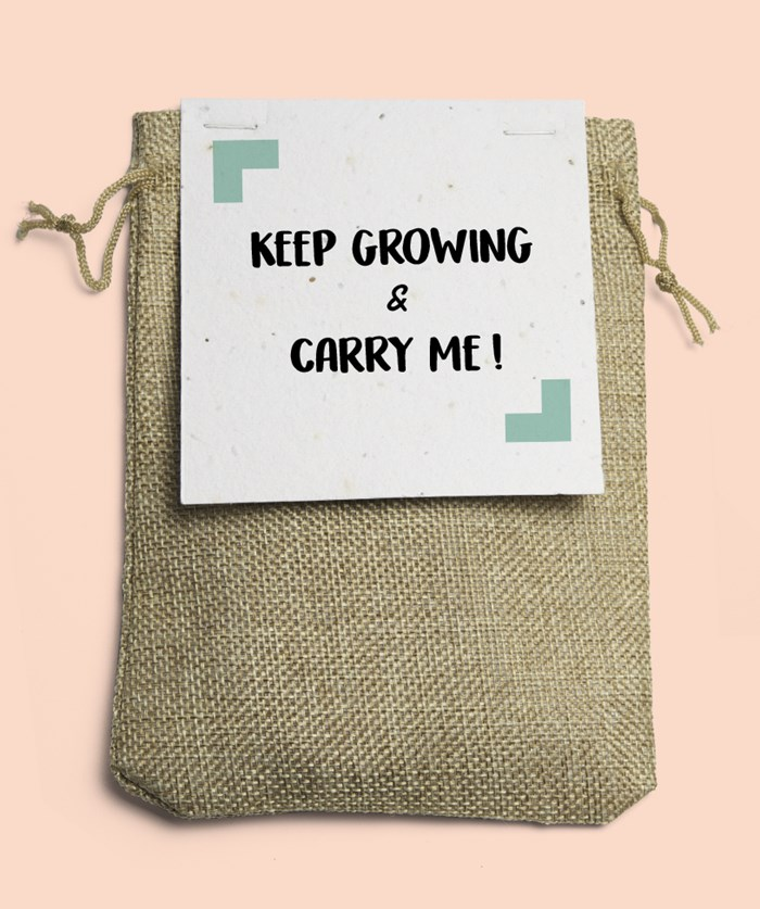 L'épicier - Keep growing & Carry me en toile de jute 🌺 3