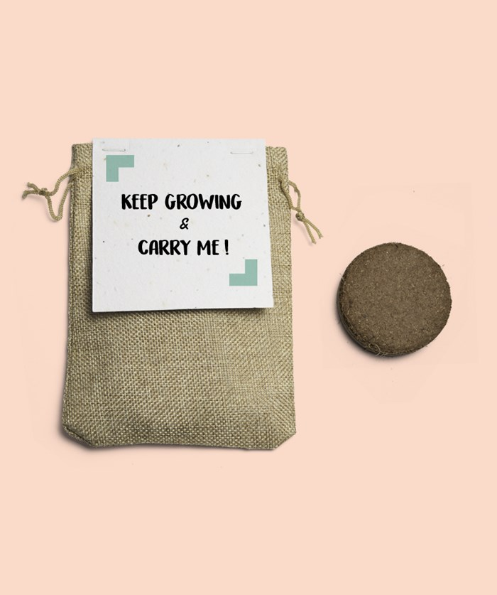 L'épicier - Keep growing & Carry me en toile de jute 🌺 5
