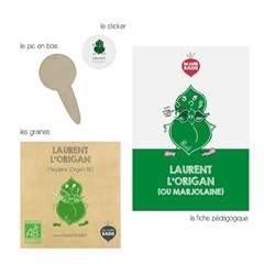Mini-Kit de semis -graines d'Origan Bio - Laurent l'origan