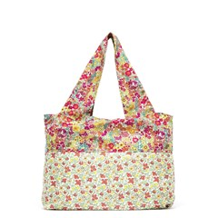 Sac de shopping coton Liberty - Jouvencelle rouge
