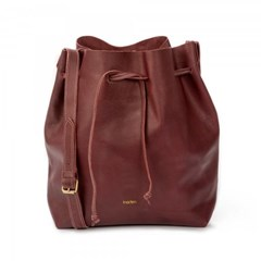 Grand sac seau - Woodé bordeaux
