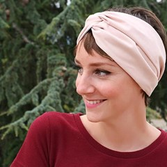 Headband Suédine Rose