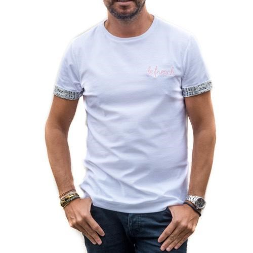 T-shirt Blanc - broderie Le French - coton Bio - Made in France 5
