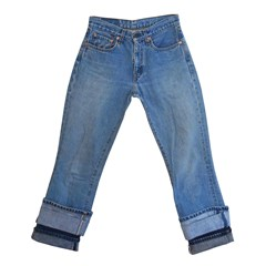 Pantalon jeans double revers