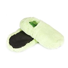 Chaussons chauffants vert made in France