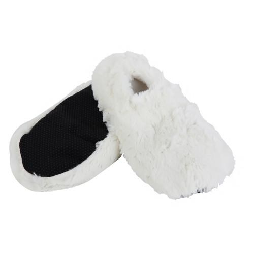 Chaussons bouillotte beiges made in France 3