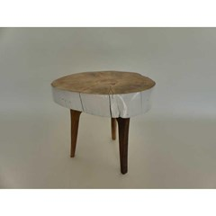 Table d'appoint vintage, Blanche