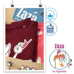 La valise de Zaza - Sweat + Tee shirt en coton BIO enfants