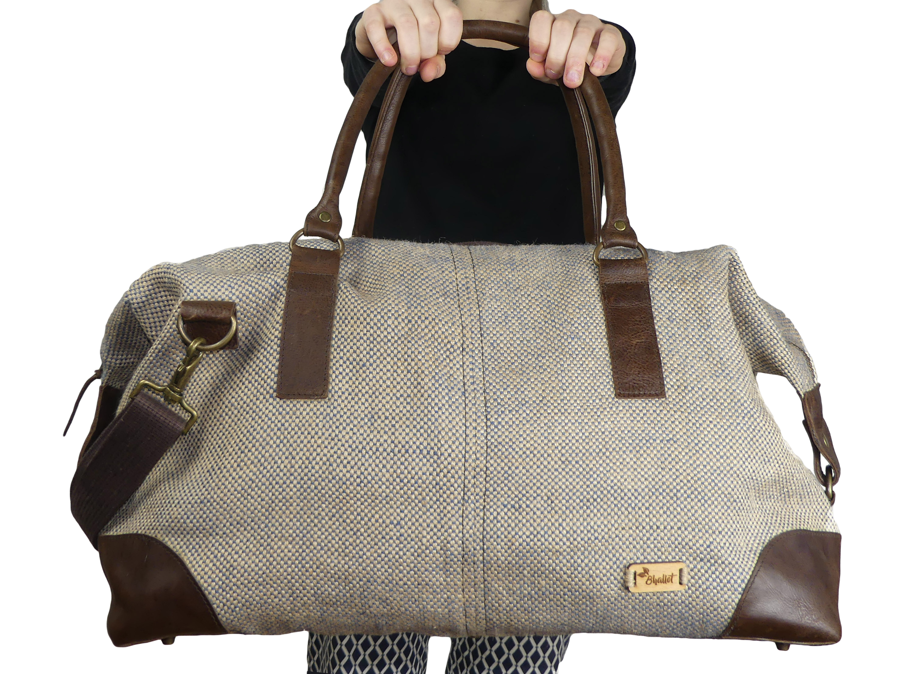 Sac weekend 48h en toile de jute - JHOLA