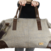 Sac weekend 48h en toile de jute - JHOLA  11