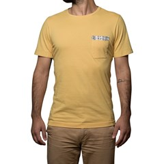T-shirt Ocre avec poche - coton Bio - Made in France