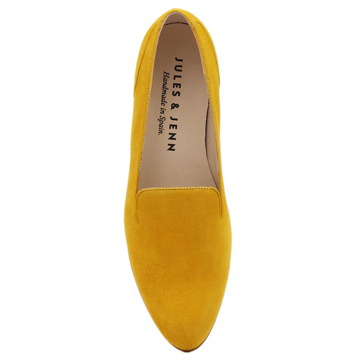 Slippers Plates Daim Jaune Moutarde 7
