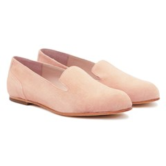 Slippers Plates Daim Poudre