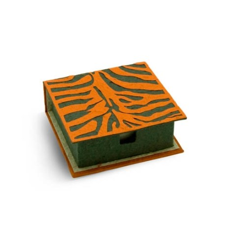 Notebox tigre en bouse d'éléphant 2
