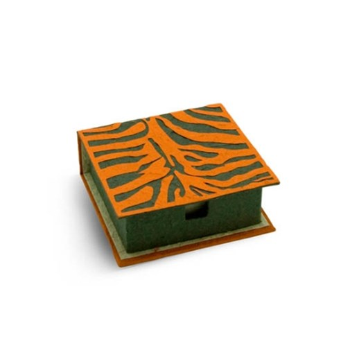 Notebox tigre en bouse d'éléphant