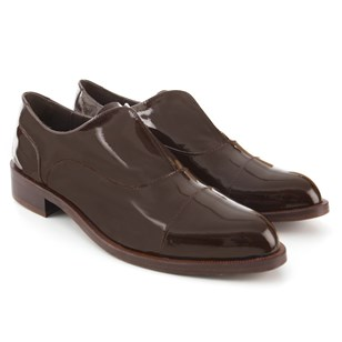 Derbies Cuir Noir Marron
