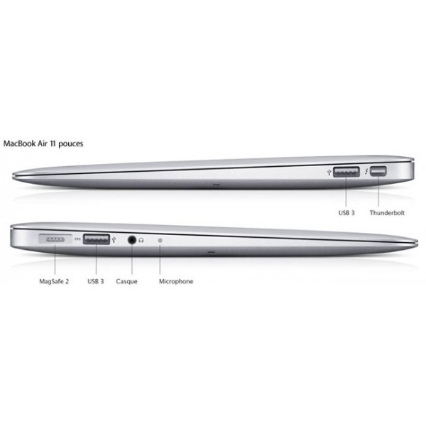 MacBook Air 11 1,6 GHz i5 / 128 Go SSD / 2 Go de Ram 3