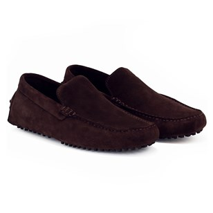 Mocassins Cuir Daim Marron