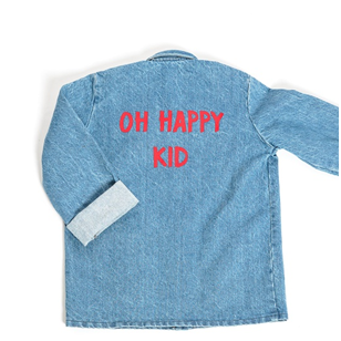 Veste en jean bleu Oh Happy Kid