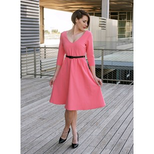 Robe Empire Yasmine Corail