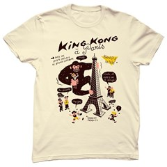 Tee-shirt homme en coton bio beige King Kong In Paris