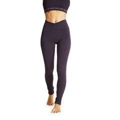 Legging base coton SAVASANA - Gris