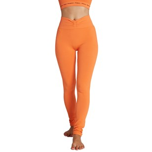 Legging base coton SAVASANA - Orange