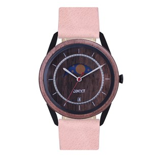 Montre en bois NEW MOON - Pivoine