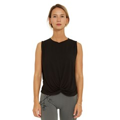 Top souple tencel TWIST - Noir