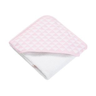 Cape de bain en bambou Triangle rose