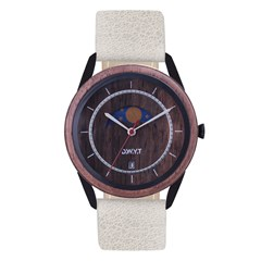 Montre en bois NEW MOON -  Galet