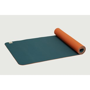 Tapis de yoga réversible Confort 5mm - Bleu et Orange