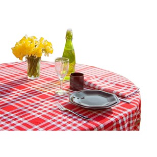 Nappe tissu coton carreaux vichy - NELLY - Rouge