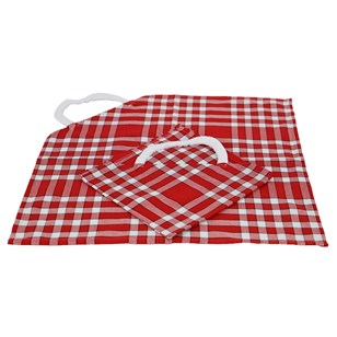 Lot de 2 bavoirs enfant coton carreaux vichy Normand - CLEAN KID - Rouge