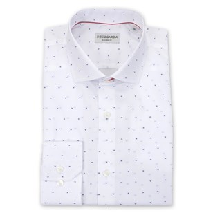 Chemise homme droite poignets boutons - Gigaro Blanche