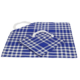 Lot de 2 bavoirs enfant coton carreaux vichy Normand - CLEAN KID - Bleu