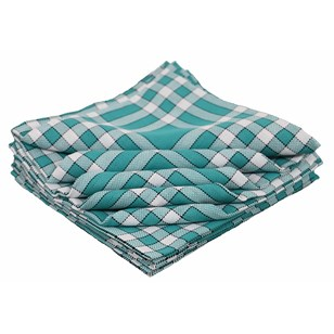 Lot de 10 bavoirs enfant coton carreaux vichy Normand - CLEAN KID - Vert