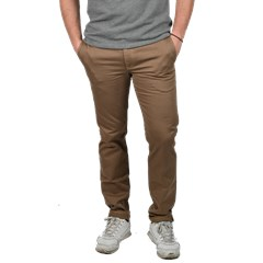 Chino beige en Coton Made In France