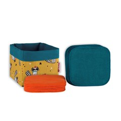 Kit de lingettes lavables pour enfants SWEET BOX ANISTAR Orange