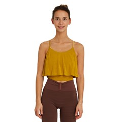 Crop Top Bambou Kerala - Jaune moutarde