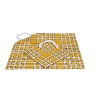 Lot de 2 bavoirs enfant coton carreaux vichy Normand - CLEAN KID - Jaune