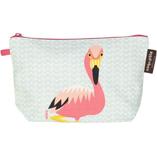 Trousse en coton bio - Flamant rose