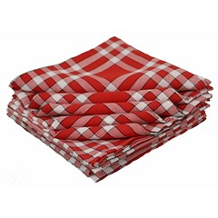 Lot de 10 serviettes de tables coton carreaux vichy Normand - NELLY - Rouge
