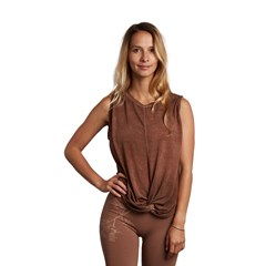 Top souple en Tencel - Marron