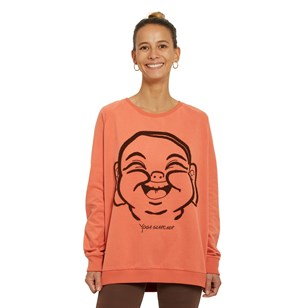 Sweat dandasana en coton bio - Orange
