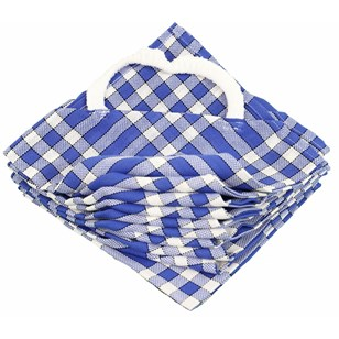Lot de 10 bavoirs enfant coton carreaux vichy Normand - CLEAN KID - Bleu