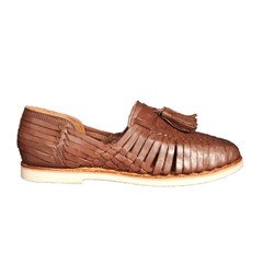 Mocassins cuir tressé - Marron