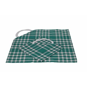 Lot de 2 bavoirs enfant coton carreaux vichy Normand - CLEAN KID - Vert