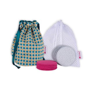 Kit de démaquillage lavable SWEET BAG BULKA Bleu