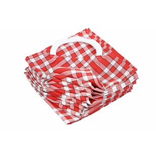 Lot de 10 bavoirs enfant coton carreaux vichy Normand - CLEAN KID - Rouge